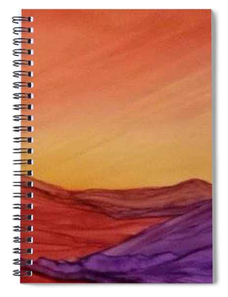 Sunset On Red And Purple Hills Spiral Notebook