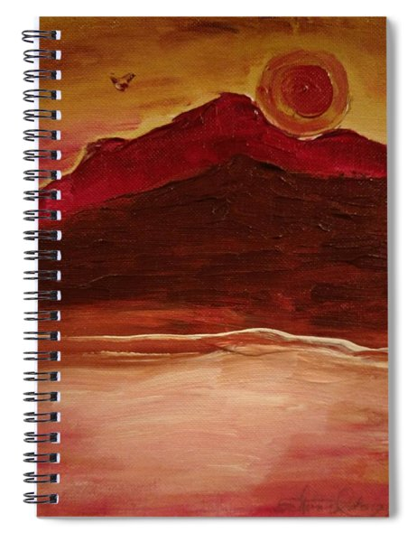 Sunset On Red Mountain Spiral Notebook
