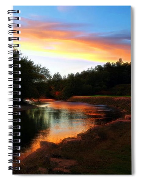 Spiral Notebook featuring the photograph Sunset On Saco River by Patti Whitten