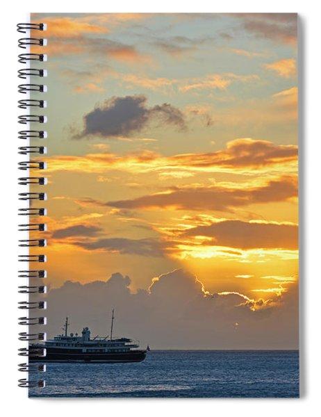 Sunset On Simpon Bay Saint Martin Caribbean Spiral Notebook