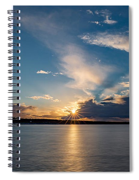 Sunset On The Baltic Sea Spiral Notebook