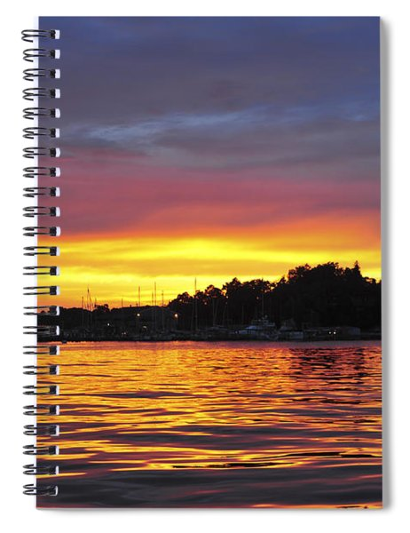 Sunset On The Bay Island Heights Nj Spiral Notebook