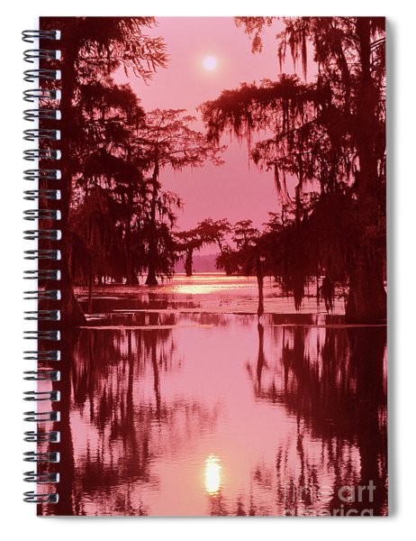 Sunset On The Bayou Atchafalaya Basin Louisiana Spiral Notebook