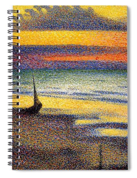 Sunset On The Beach 1891 Spiral Notebook