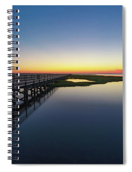 Sunset On The Boardwalk At Grays Beach Cape Cod Spiral Notebook
