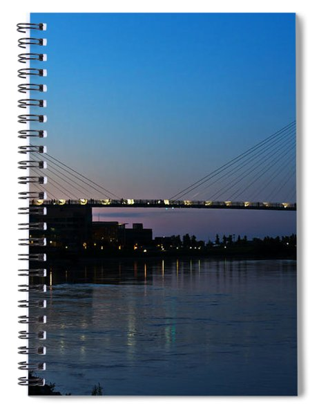 Spiral Notebook featuring the photograph Sunset On The Bob Kerry Pedestrian Bridge by Edward Peterson