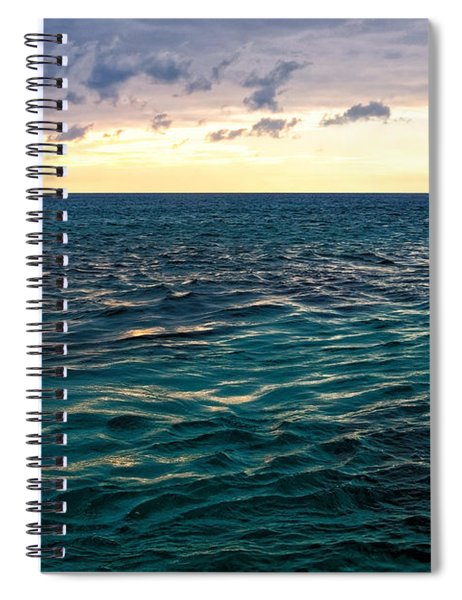 Sunset On The Caribbean Spiral Notebook