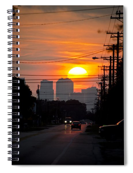 Sunset On The City Spiral Notebook