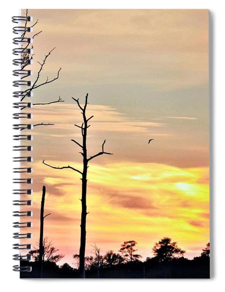 Sunset On The Eastern Shore Spiral Notebook