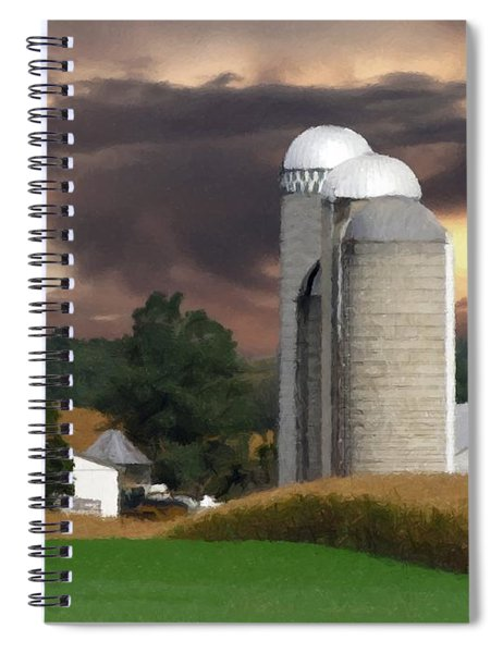 Sunset On The Farm Spiral Notebook