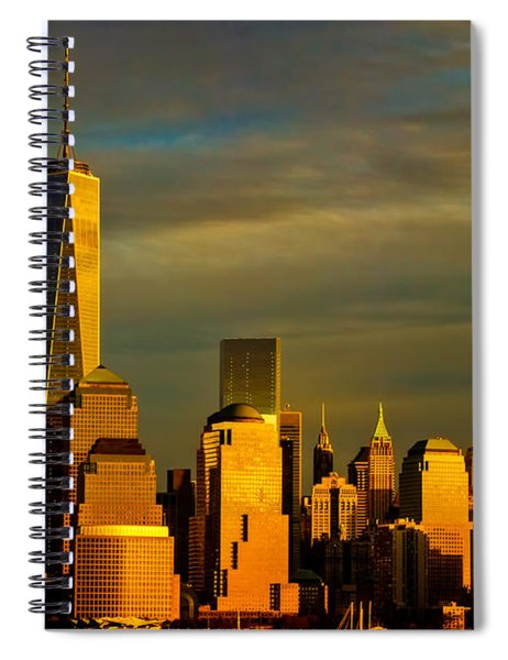 Sunset On The Financial District Spiral Notebook