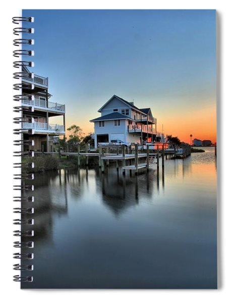 Sunset On The Obx Sound Spiral Notebook