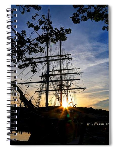 Sunset On The Whalers Spiral Notebook