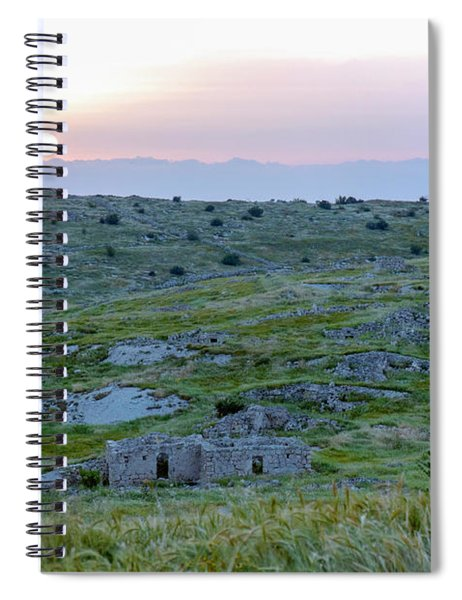 Sunset Over A 2000 Years Old Village Spiral Notebook