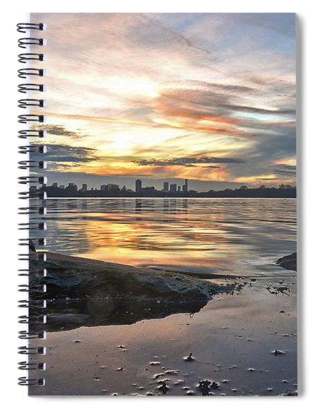 Sunset Over Lake Kralingen  Spiral Notebook