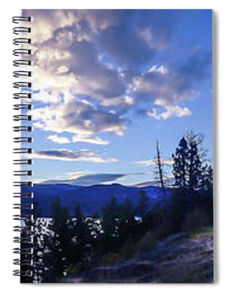 Sunset Over Lake Okanagan Spiral Notebook