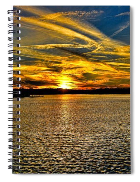 Sunset Over Lake Palestine Spiral Notebook