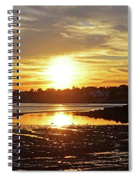 Sunset Over Lynch Park Beverly Ma Spiral Notebook