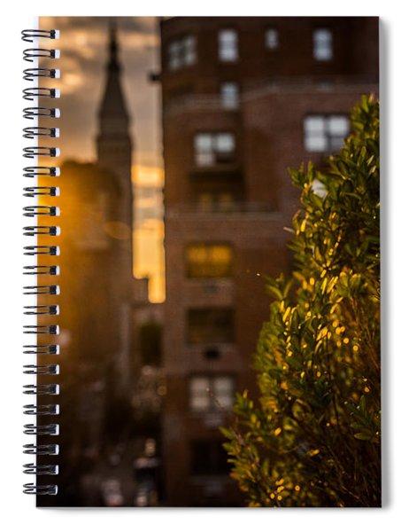 Sunset Over Manhattan New York City Spiral Notebook