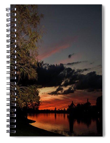 Sunset Over The Caloosahatchee Spiral Notebook