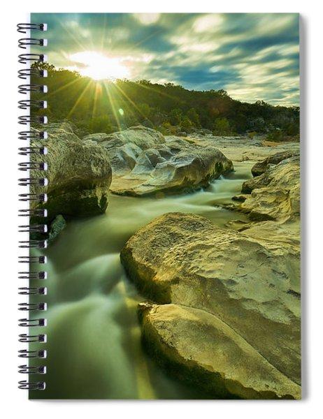 Sunset Over The Cascade Spiral Notebook