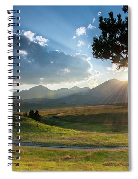 Sunset Over The Crazies Spiral Notebook