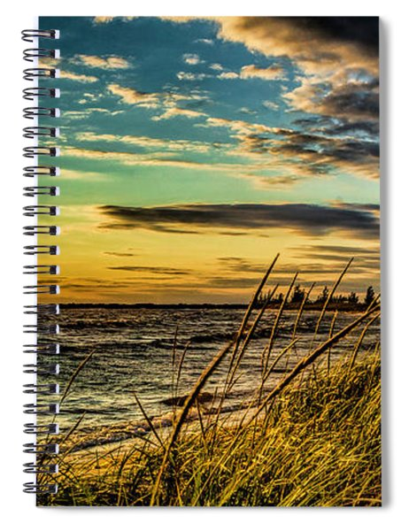 Sunset Over The Great Lake Spiral Notebook