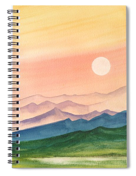 Sunset Over The Hills Spiral Notebook