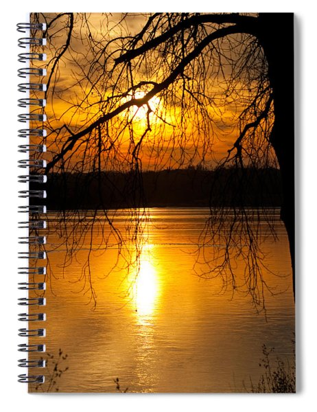 Spiral Notebook featuring the photograph Sunset Over The Lake by Edward Peterson