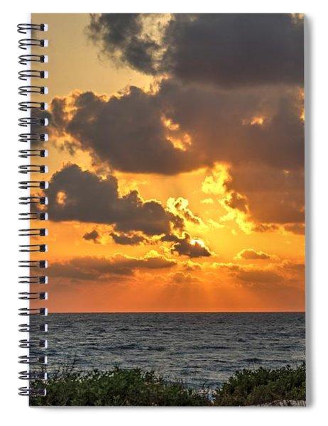 Sunset Over The Mediterranean  Spiral Notebook
