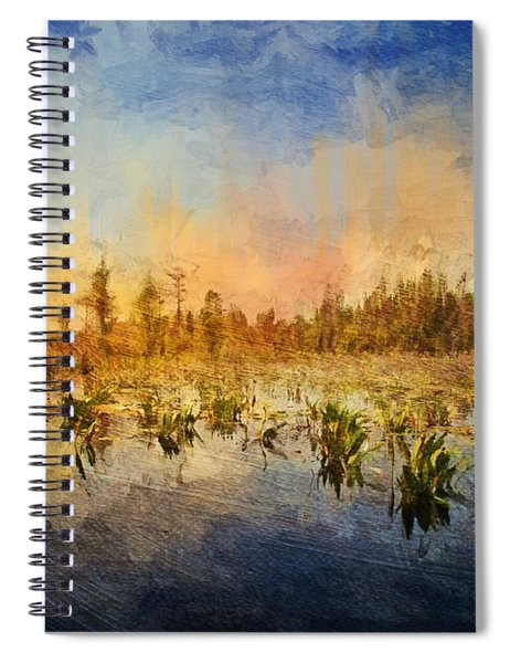 Sunset Over The Okefenokee Spiral Notebook