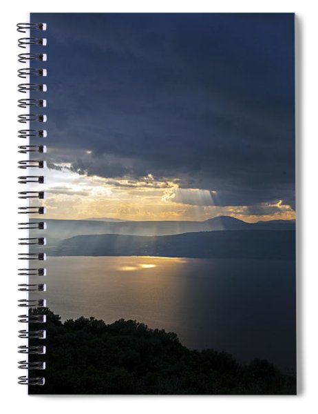 Sunset Over The Sea Of Galilee Spiral Notebook