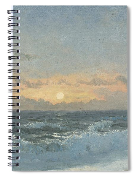 Sunset Over The Sea Spiral Notebook