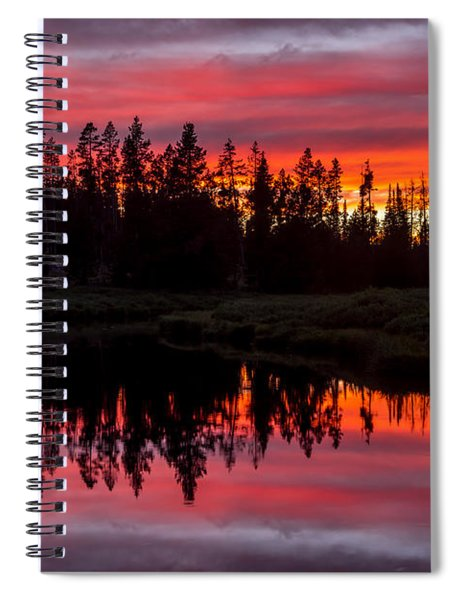 Sunset Over The Stillwater Spiral Notebook