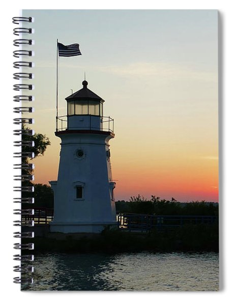 Sunset Over The Straits Spiral Notebook