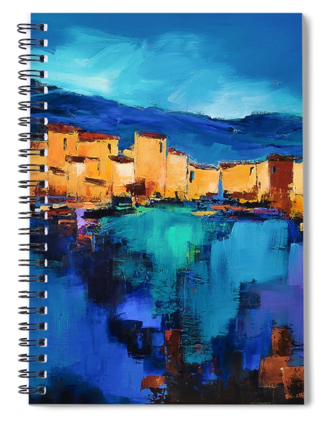 Sunset Over The Village 3 By Elise Palmigiani Spiral Notebook