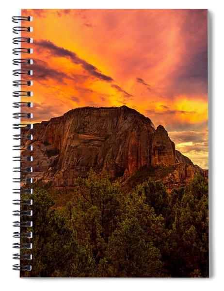 Sunset Over Timber Top Mountain Spiral Notebook