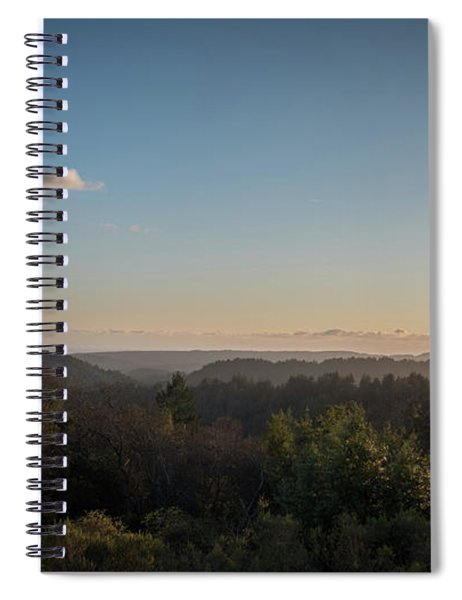 Sunset Over Top Of Dense Forest Spiral Notebook