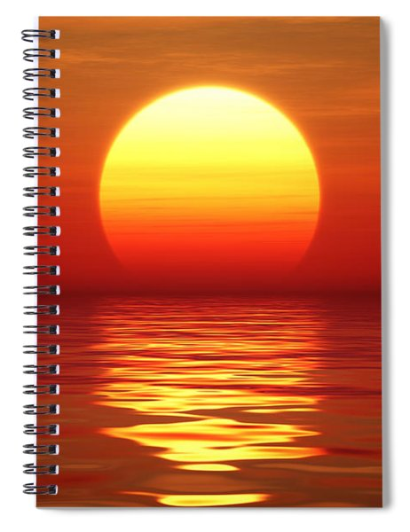 Sunset Over Tranqual Water Spiral Notebook