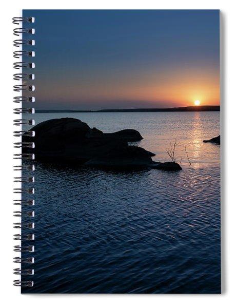 Sunset Over Wilson Lake Spiral Notebook