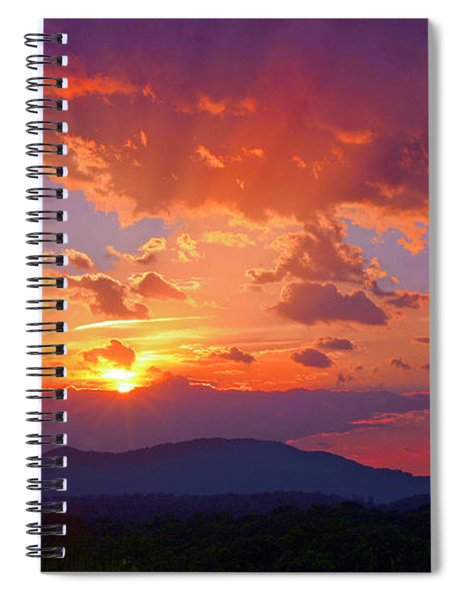 Sunset Rays At Smith Mountain Lake Spiral Notebook