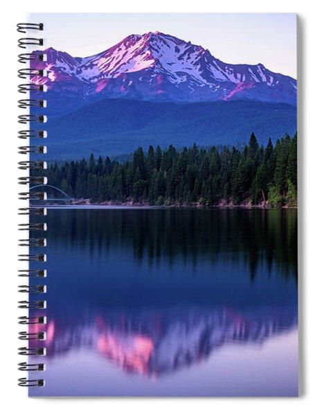 Sunset Reflection On Lake Siskiyou Of Mount Shasta Spiral Notebook