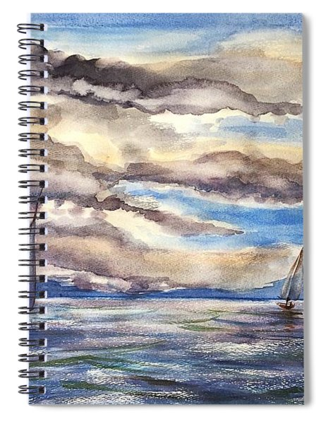 Sunset Regatta Spiral Notebook