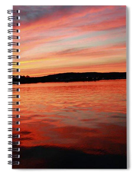 Sunset Row Spiral Notebook