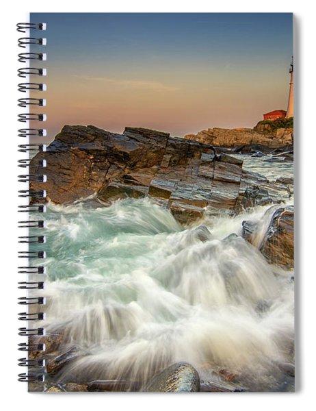 Sunset Sail At Portland Head Light Spiral Notebook