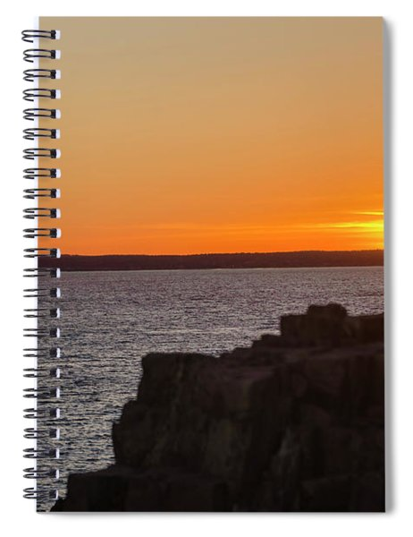 Sunset Sailing In Maine Spiral Notebook