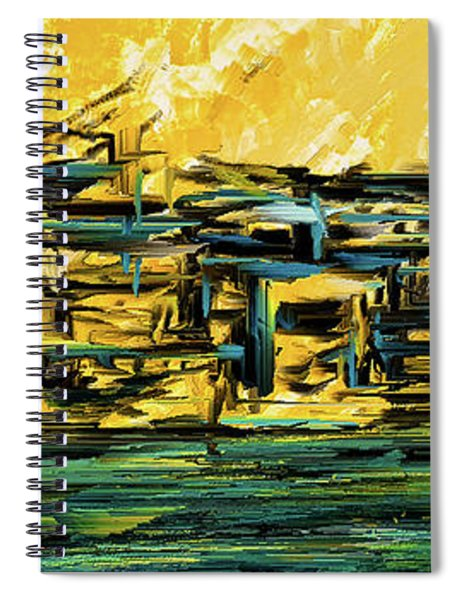 Sunset Showdown - Downtown Cityscape Art Spiral Notebook