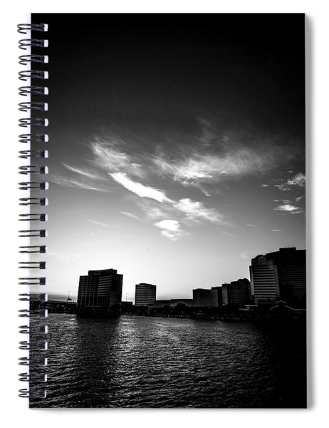 Sunset Silhouette Spiral Notebook