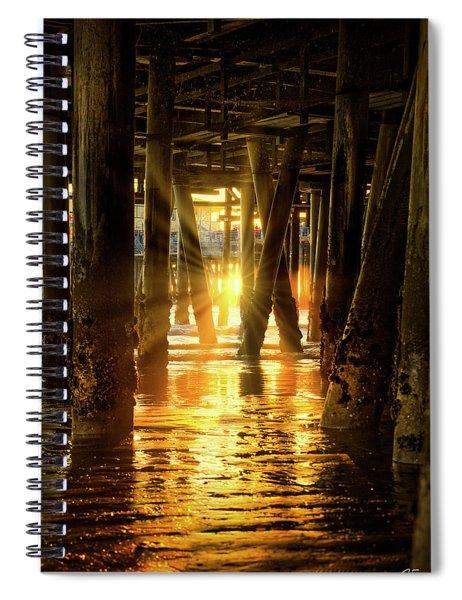 Sunset Through The Pier Spiral Notebook