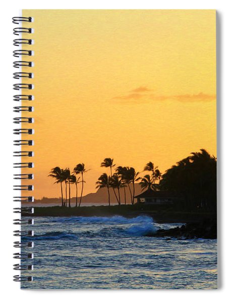Sunset Time In The Tropics Spiral Notebook